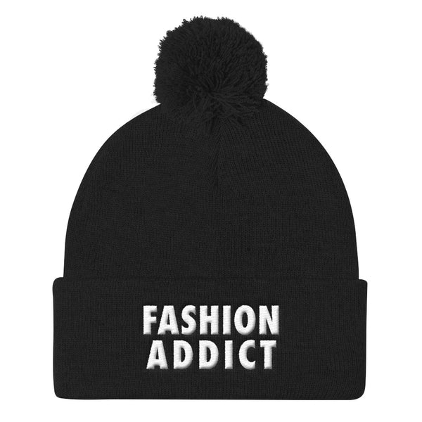 Fashion Addict Pom Pom Knit Beanie