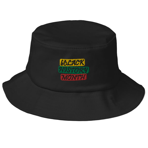 Black History Month Old School Bucket Hat