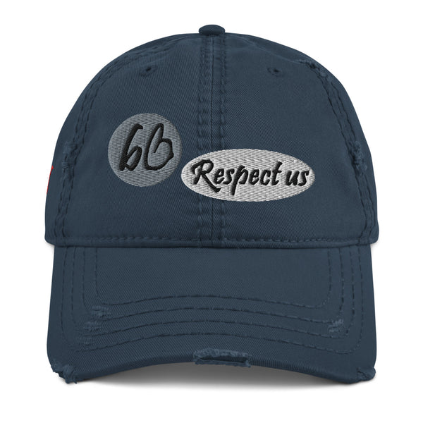 bb Respect Us Distressed Dad Hat
