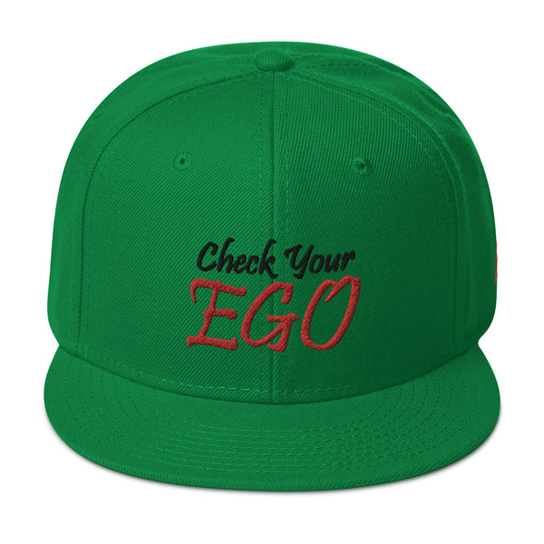 Check Your Ego Snapback Hat