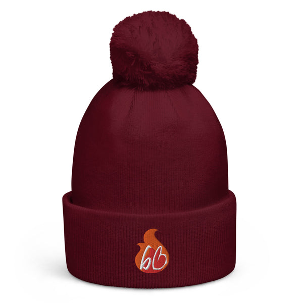 bb In A Flame Pom Pom Beanie