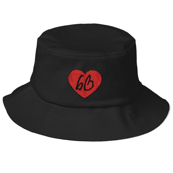 bb Heart Logo Old School Bucket Hat