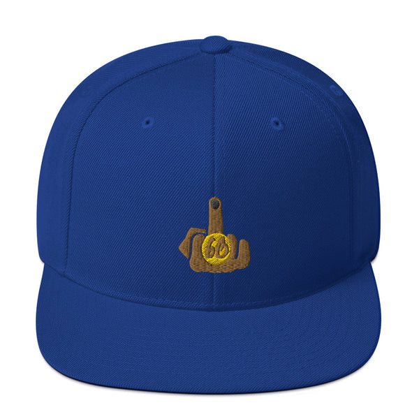Middle Finger To The World Snapback Hat