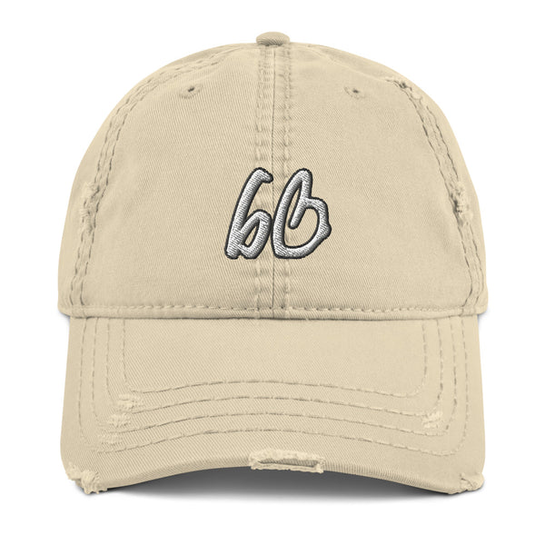 bb Logo Distressed Dad Hat