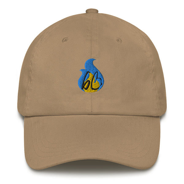 bb Blue/Yellow Flame Dad Hat