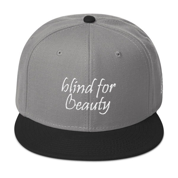 Blind For Beauty Snapback Hat