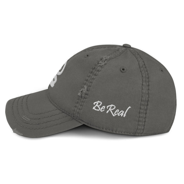 bb Logo On The Side Distressed Dad Hat