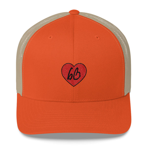bb Heart Logo Trucker Hat