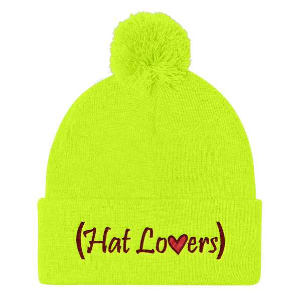 Hat Lovers Pom Pom Knit Beanie