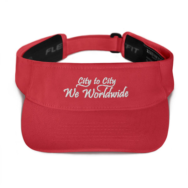 City To City We Worldwide FlexFit Visor