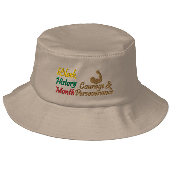 BHM Courage & Perseverance Old School Bucket Hat