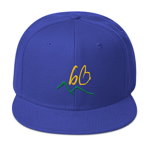 bb Mountains Logo Snapback Hat