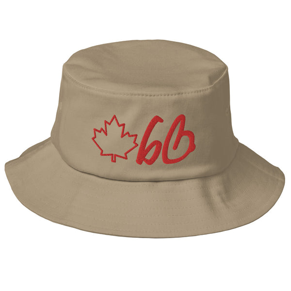 bb Maple Leaf Logo Old School Bucket Hat