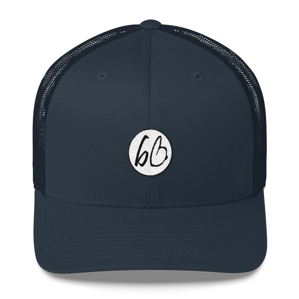bb Circle Patch Logo Trucker Hat