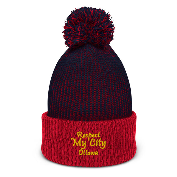 Respect My City Ottawa Rae Gourmet Collection Pom-Pom Beanie