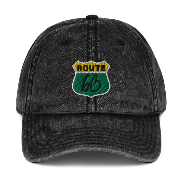 ROUTE bb Vintage Cotton Twill Dad Hat