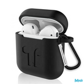 Soft Silicone Airpods 2 Cover Case with Protective Keychain