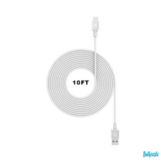 10ft Lightning White USB to Type C Charging Cable