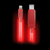 Light Pulse 3ft MFI Pink and Red Light Up iPhone Cable EL 1402PW