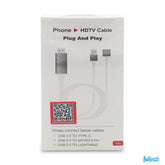 1080p Phone HDTV Cable 3 Feet Plug And Play