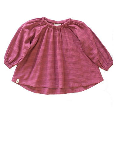 Peasant Blouse in Plum