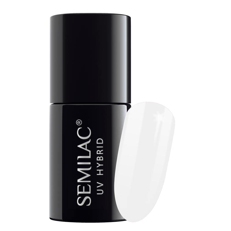 Semilac 001 Strong White UV Gel Polish 7 ml - FlowertushBeauty