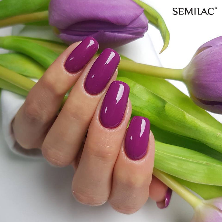 Semilac 012 Pink Cherry UV Gel Polish  7 ml - FlowertushBeauty