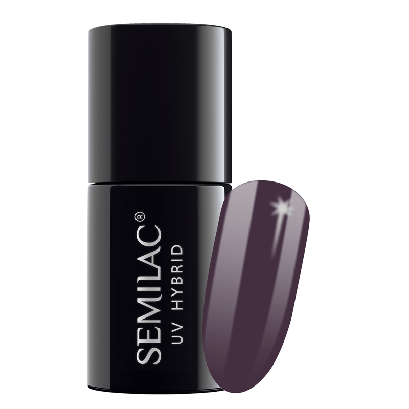 Semilac 014 Dark Violet Dream UV Gel Polish 7 ml - FlowertushBeauty