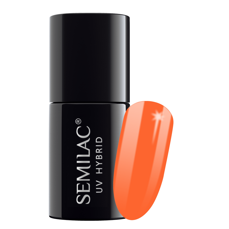 Semilac 045 Electric Orange UV Gel Polish 7 ml