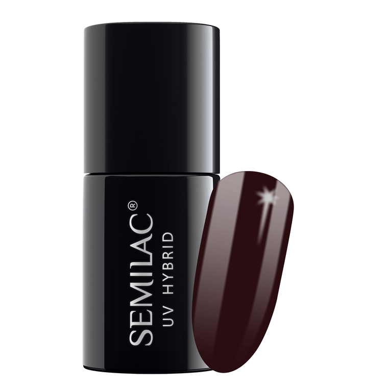 Semilac 076 Black Coffee UV Gel Polish 7 ml