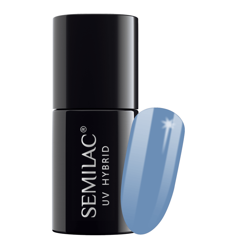 Semilac 084 Denim Blue UV Gel Polish 7 ml - FlowertushBeauty