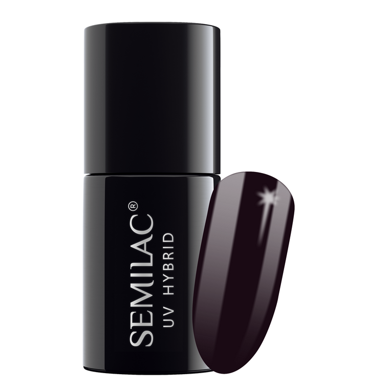 Semilac 100 Black Purple UV Gel Polish 7 ml