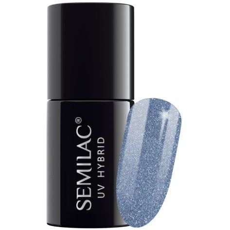 Semilac 255 Platinum Silver Blue UV Gel 7 ml