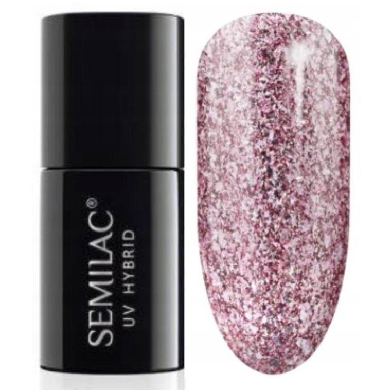Semilac 294 Rose Pink Shimmer UV Gel Polish 7 ml