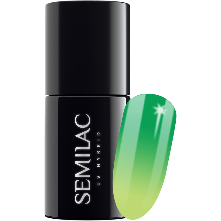Semilac Thermo Colour 648 Green & Lime UV Gel 7 ml