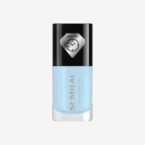 Semilac Nail Polish Fast Dry C807 Light Blue
