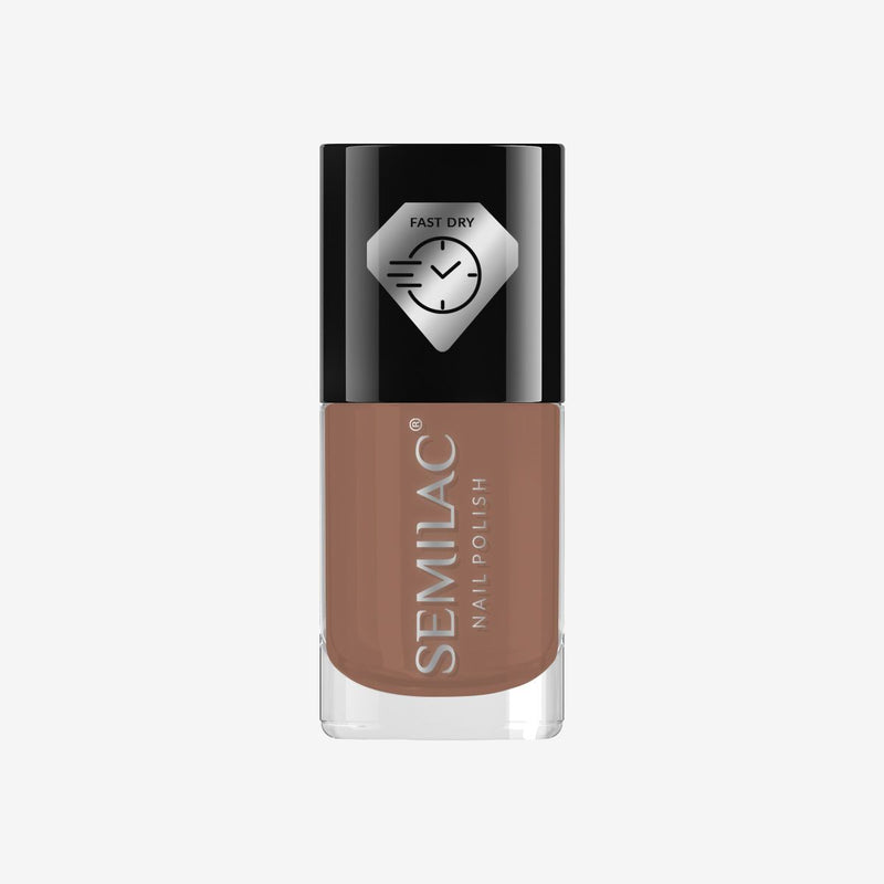 Semilac Nail Polish Fast Dry C230 Brown - FlowertushBeauty