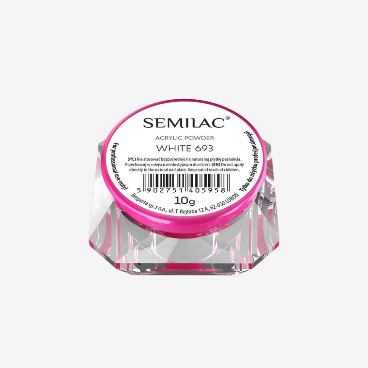 Semilac Acrylic Powder White 693