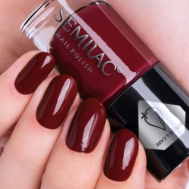 Semilac Nail Polish Colour & Care C285 Dark Red