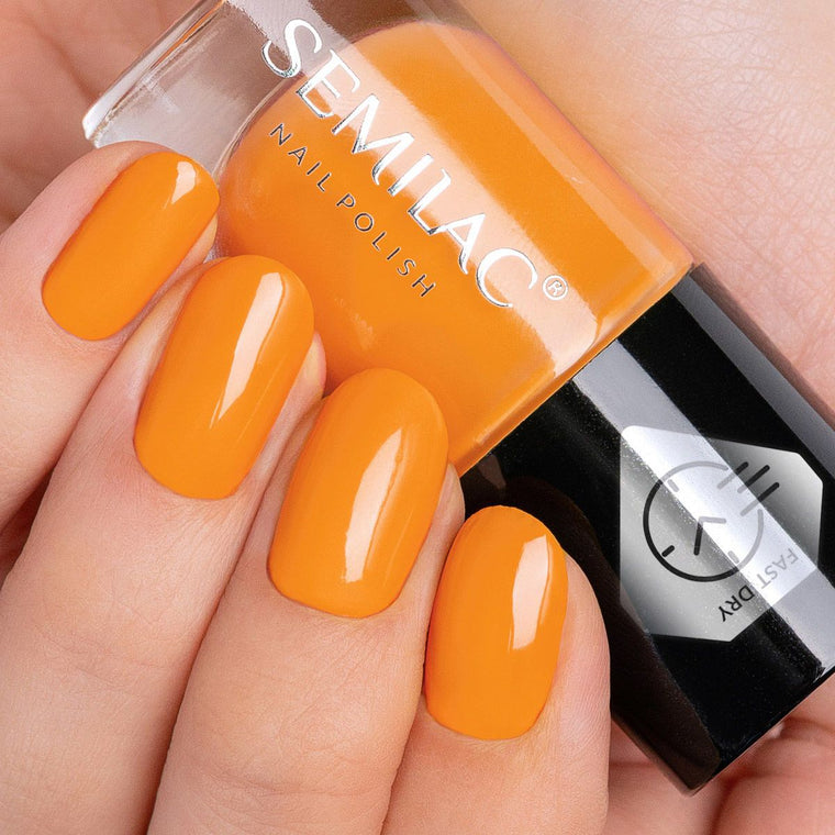 Semilac Nail Polish Fast Dry C440 Orange