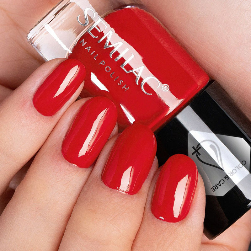 Semilac Nail Polish Colour & Care C547 Red