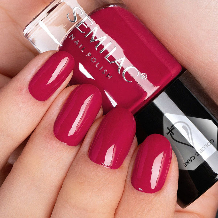 Semilac Nail Polish Colour & Care C553 Raspberry Red