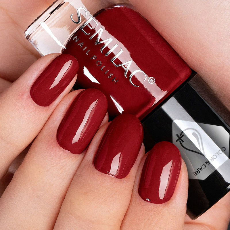 Semilac Nail Polish Colour & Care C568 Red