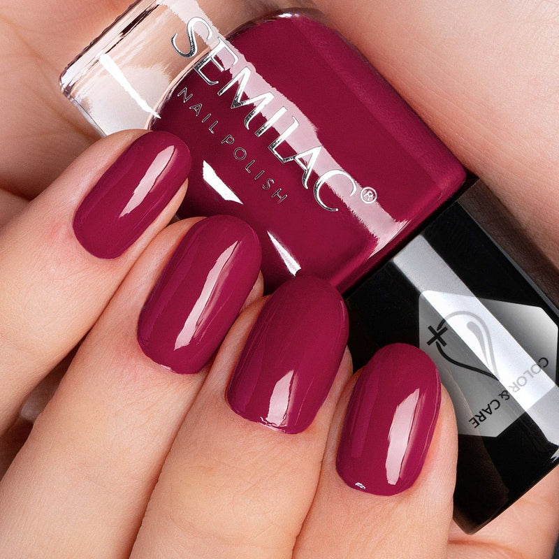Semilac Nail Polish Colour & Care C575 Red