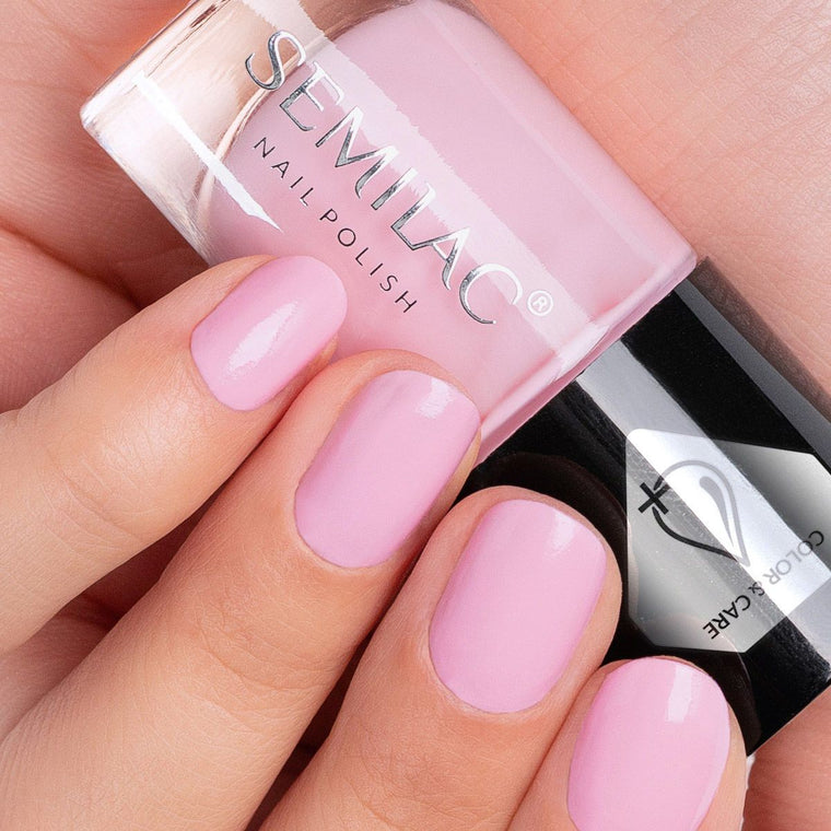 Semilac Nail Polish Colour & Care C618 Pink