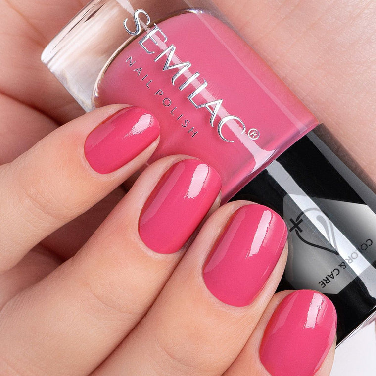 Semilac Nail Polish Colour & Care C672 Pink