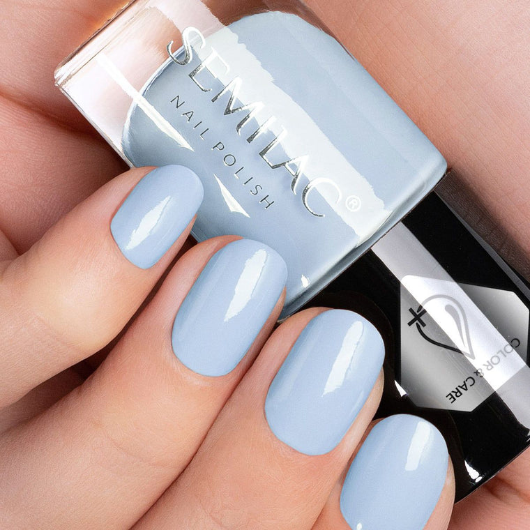 Semilac Nail Polish Colour & Care C808 Blue
