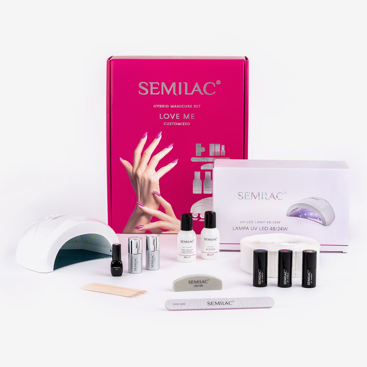 Semilac Starter Set Love me CUSTOMISED with 24/48W Led Lamp