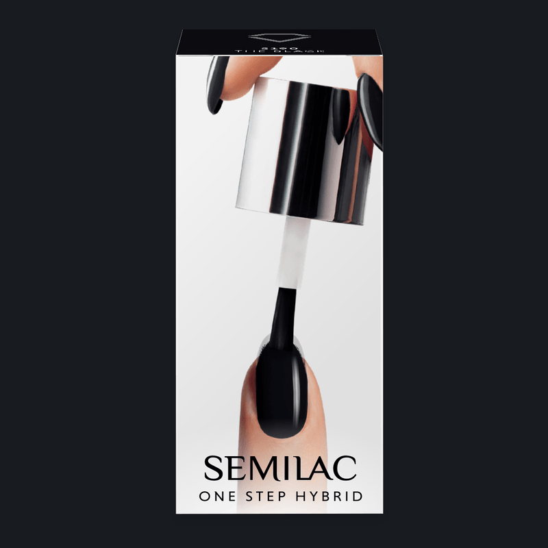Semilac One Step Hybrid Gel Polish 5ml 190 The Black - FlowertushBeauty