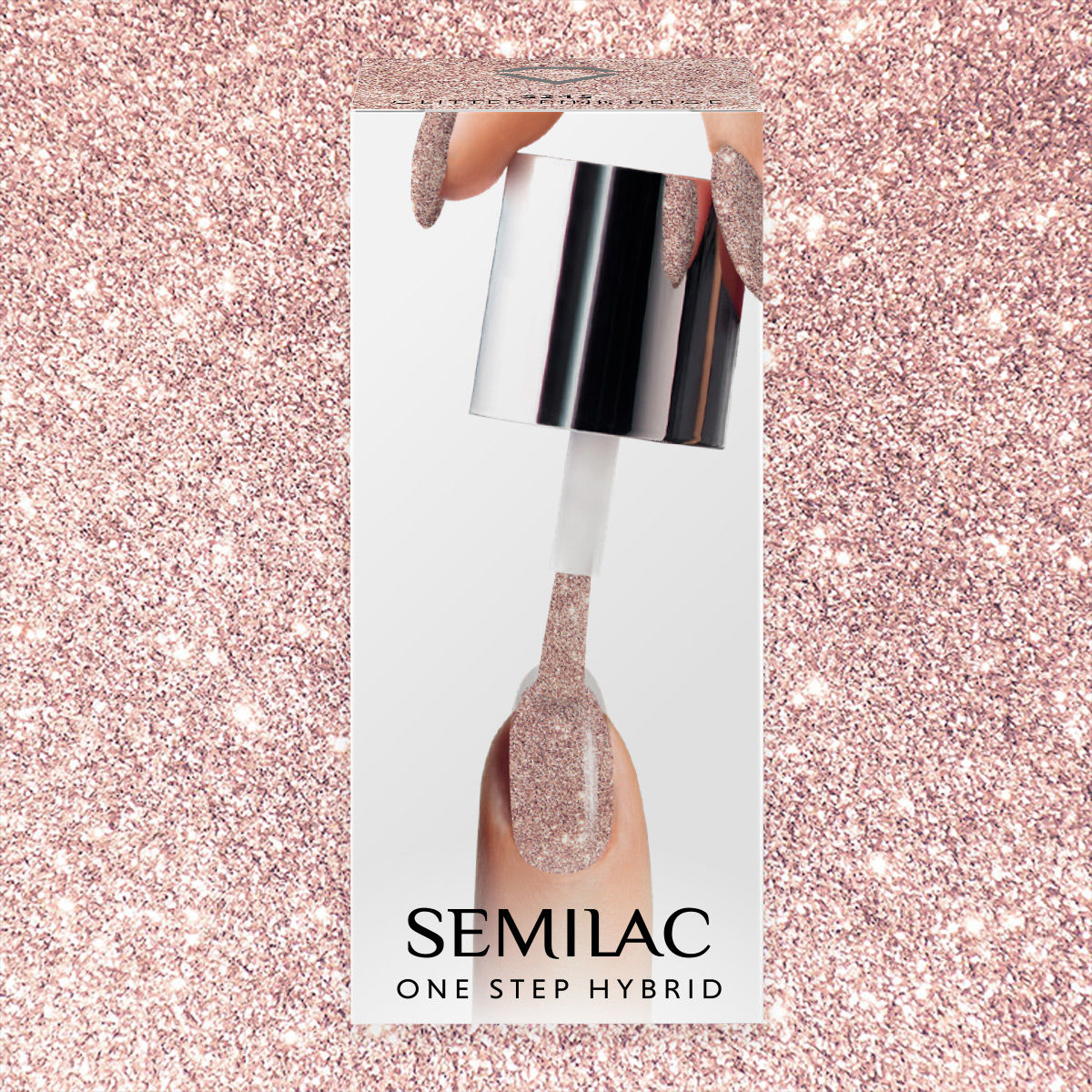 Semilac One Step Gel Polish Pen 3ml 245 Glitter Pink Beige - FlowertushBeauty